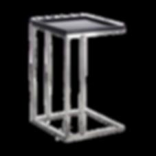 Kleiner Beistelltisch in zwei praktischen Größen, die über die Sofasitzfläche geschoben werden können. Durch eine kleineAufkantung bieten die Tische eine sicher Abstellmöglichkeit.