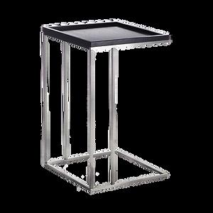 Kleiner Beistelltisch in zwei praktischen Größen, die über die Sofasitzfläche geschoben werden können. Durch eine kleine Aufkantung bieten die Tische eine sichere Abstellmöglichkeit.