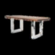 Hier spricht das Material: Bei VEGAS treffen zur Platte verleimte massive Langholzstäbe auf das kühle Metall des Gestells, das in zwei Varianten zur Verfügung steht. Bei der Vierfüßer-Version sind die Stahlbeine aufwändig in die Tischplatte eingelassen, was sich in der Seitenansicht deutlich darstellt. Die Kufengestell-Version setzt nicht an den Ecken an, sondern weiter in die Plattenmitte – ideal für die Kombination mit Bänken. Die kräftige, durchaus unregelmäßige Maserung der Nature-Ausführung treibt den Materialkontrast auf die Spitze – Asteinschlüsse steigern die Authentizität. Esstisch mit ausdrucksstarker, lebendiger Maserung und Erweiterungsfunktion. Tischbeine Stahlrohr in zwei Versionen. VEGAS ist mit einem 4-Fußgestell (in zwei Bein-Varianten: 6 x 6 cm oder 4 x 4 cm) oder mit Kufengestell, sowohl in festen, als auch individuellen Maßen erhältlich. Ansteckplatten optional. Verschiedene Massivholzarten in Natur erhältlich. Oberfläche: Schellackgrundierung.