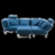 TAM von BRÜHL  eine unkomplizierte Relaxlandschaft, die aus zwei Openend-Sofas, die miteinander verbunden sind, besteht. Sämtliche Arm- und Rückenlehnen sind stufenlos klappbar. Abgerundet wird das Programm durch einen Hocker, der am Sofa befestigt werden kann. Die Bezüge sind unkompliziert abziehbar. Optional sind flexible Kopfstützen erhältlich, die wahlweise an jedem Sitzplatz platziert werden können (Schlafmaß ca. 150 x 200 cm).  Recamiere TAM mit lässigem Charme, stilsicher in Form und Funktion. Als Ruhepol für Mußestunden. Flexibel abklappbare Rücken- und Seitenlehne, anschmiegsame Polster, großes Seitenkissen, Wechselbezüge aus Baumwollmischgewebe, abziehbar und mobil durch Rollen am Modulende (Schlafmaß ca. 75 x 200 cm).