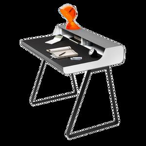 PS 10 ist ein Sekretär mit viel Gestaltungsfreiraum. Die Arbeitsfläche ist aus schwarzem oder hellgrauem Linoleum, die integrierte Schublade beinhaltet eine Stiftmulde. Anstatt der Fussbeine sind Kufen erhältlich. PS 10 von MÜLLER MÖBELFABRIKATION kann beliebig mehrfarbig lackiert werden, hierfür stehen alle RAL-Farben zur Auswahl.