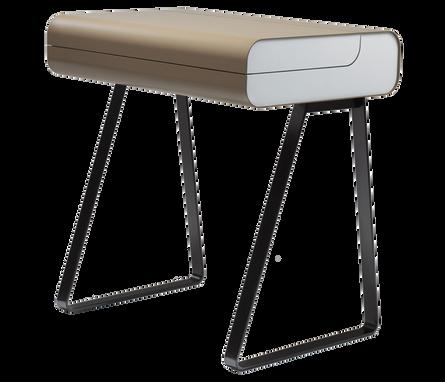 PS 08 ist ein Sekretär mit aufklappbarem Pultdeckel. Die Arbeitsfläche ist aus schwarzem Linoleum, in der Tischunterseite befinden sich 2 Kabelöffnungen. Die integrierte Schublade beinhaltet eine Stiftmulde. PS 08 von MÜLLER MÖBELFABRIKATION kann in allen RAL-Farben lackiert werden, gegen Aufpreis auch in Metallic-Farben. Optional auch als Schminktisch erhältlich.