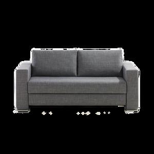 Ein Schlafsofa, dass eine komfortable Liegehöhe von 44 cm bietet. Das LOOP Schlafsofa erhalten Sie in 140 cm Breite, sowie in 160 cm Breite. Alternativ gibt es einen Schlafsessel. FRANZ FERTIG hat mit der einzigartigen Verwandlungstechnik es geschafft bequemes Sitzen und  angenehmes Schlafen perfekt zu verbinden.
