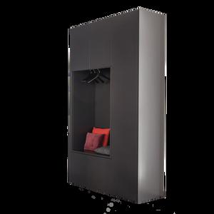 Das Baukastensystem CABIN von SCHÖNBUCH schafft Platz für alles, was verstaut werden soll. Ob als Einbau in die Ecke oder Nische oder als klassischer Kleiderschrank: Dieses Schranksystem bietet eine Vielzahl an Möglichkeiten und Ausführungen, Lackierungen, Inneneinteilungen und Massen. Um eine geschlossen Schrankwand zu gestalten dienen Decken- und Sockelblenden, die auf jedes Raummass abgestimmt werden können. CABIN ist auch als Schuhschrank erhältlich. Für die Inneneinteilung stehen verschiedene Schubladenausführungen , Hosenauszug, Innenspiegel, Schubkastengefache usw. zur Verfügung. Optional kann der Innenkorpus von CABIN in Aussenfarbe lackiert werden.