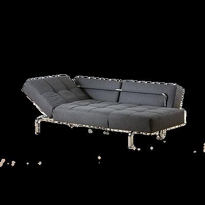 Durch herausnehmen der Rückenkissen ist JERRY von BRÜHLschnell zu einem komfortablen Bett verwandelt (Schlafmaß 170 x 212 cm). Die Seitenlehnen können hochgestellt werden, so dass sich eine bequeme Liegeposition ergibt. Durch die filigrane, dennoch markante Form findet JERRY in vielen Räumen einen Platz.
