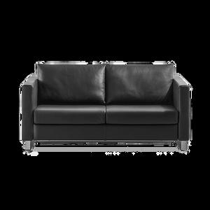 Das Sofa INTRO von FRANZ FERTIG mit klarem Profil und vielen Gesichtern. Ob als Solomöbel für den Warte- oder Foyerbereich oder im Duo mit passendem Sessel für Zuhause, ob als Treffpunkt der Familie oder als Schlafgelegenheit für Freunde, dieses klassische Verwandlungssofa macht immer einen eleganten Eindruck. Es geht nicht direkt hervor das es sich um ein Schlafsofa handelt.   INTRO gibt es in zwei Versionen, die sich in Schlafhöhe und Armlehnen unterscheiden: INTRO 53 (Schlafhöhe: 30 cm) und INTRO 54 (Schlafen auf Sitzhöhe).