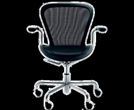 Der drehbare Bürostuhl ANNETT auf 5 Rollen besticht durch seinen herausragendem Sitzkomfort. ANNETT ist in den Farben Beige, Schwarzund Violett erhältlich. Die Sitzhöhe ist durch einen Pneumaten individuell verstellbar. Die Armlehnen bestehen aus texturiertem Polyurethan-Integralschaum, der Sitz aus formstabilen Netzgewebe.