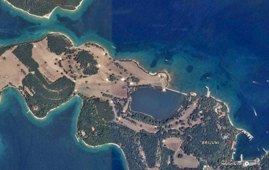 Brijuni Golf Course - satelite photo