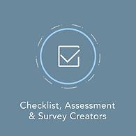 Checklist, Assessment, and survey creators icon.
