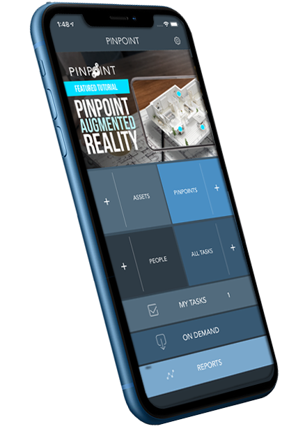 The PinPoint app's home screen.