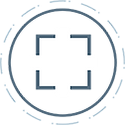 Moblie capture, creation and delivery icon.