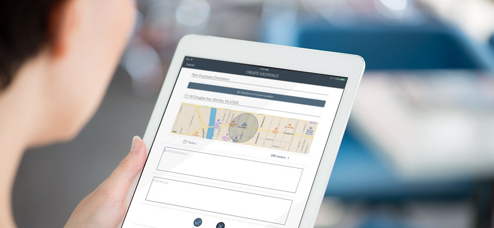 Creating a geofence in PinPoint that will launch training and support when users enter the area.