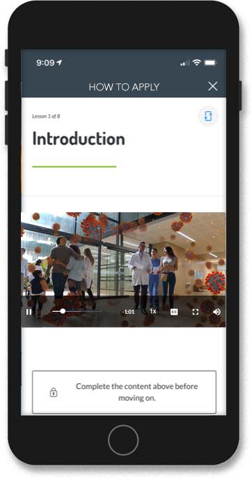 A microlearning course in the PinPoint app.