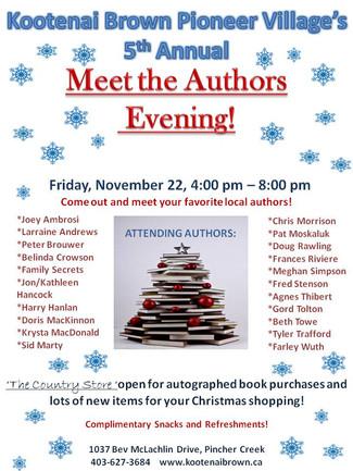 Meet the Authors Evening