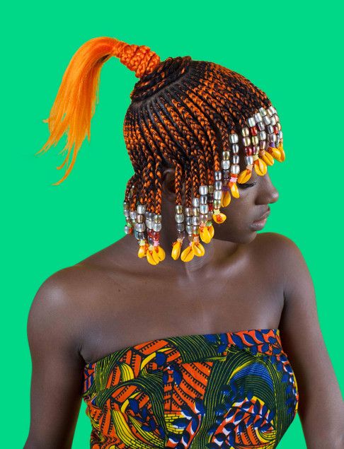 Orange Koroba with Ponytail in Profile.j