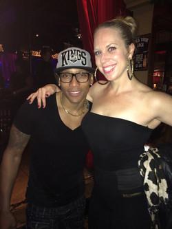 Eliza Butler with Pedrito Martinez