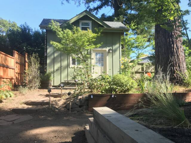 Front yard of the tiny house