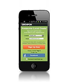 GROUPON: mobile app