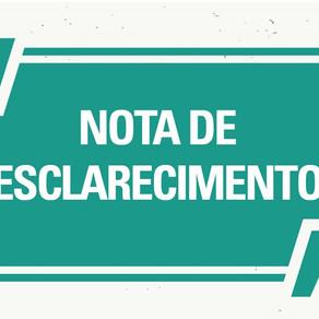 NOTA DE ESCLARECIMENTO - SEMSAU PREFEITURA DO MUNICÍPIO DE PIMENTA BUENO SECRETARIA MUNICIPAL DE SAÚ