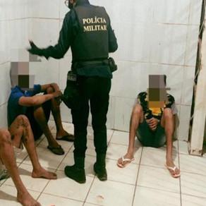 Fuga alucinada e tiroteio resulta com prisão de quatro pessoas na Capital