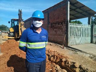 Obras para ampliar redes de distribuição de água seguem em Pimenta Bueno