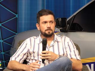 João Pichek Presidente da Câmara municipal de Cacoal participa de entrevista em TV