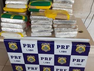 Mais de 70 quilos de cocaína são achados em fundo falso de carreta na BR-364, em RO