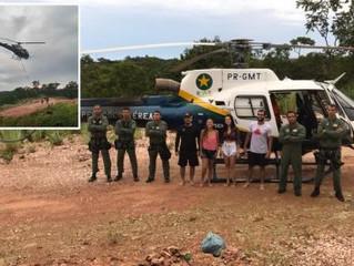 Cabeça d'água deixa quatro jovens ilhados no Rio Coxipó do Ouro