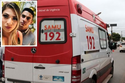 Urgente enfermeira morre e policial fica ferido ao baterem moto em árvore