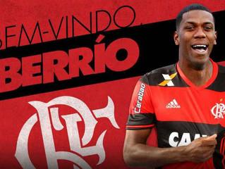 Flamengo anuncia a contratação do atacante Orlando Berrío, ex-Atlético Nacional