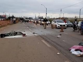 URGENTE: Motociclista morre esmagada por carreta na BR-364 em RO