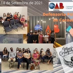 Mães atípicas buscam esclarecimentos na OAB/Cacoal, com apoio da Defensoria Pública