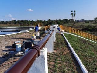 Em Rolim de Moura, concessionária revitaliza áreas do sistema de esgotamento sanitário
