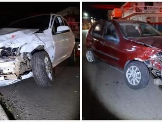 Idosa de 72 anos fica lesionada em acidente de trânsito no centro da capital