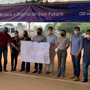 Moradores do Distrito de Bom Futuro terão acesso à rede de abastecimento de água tratada