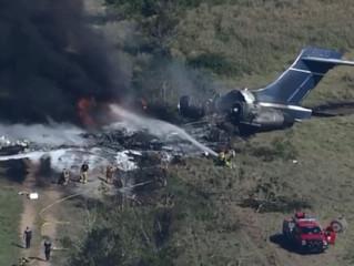 MD-87 acidenta-se durante tentativa de decolagem no Texas
