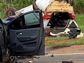 Identificados 2 mortos na colisão entre carros em Mato Grosso; bebê foi arremessado