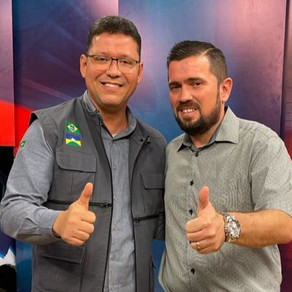 Tchau Poeira -Governador Marcos Rocha e Presidente da Câmara participa de entrevista na TV Allamanda