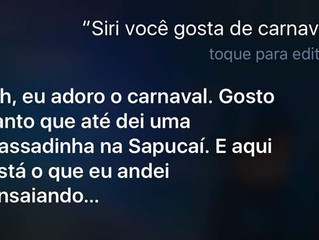 Truque no iPhone mostra que a assistente Siri já está no clima do carnaval