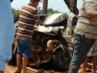 urgente: Motorista fica preso as ferragens após acidente entre três veículos em Porto Velho