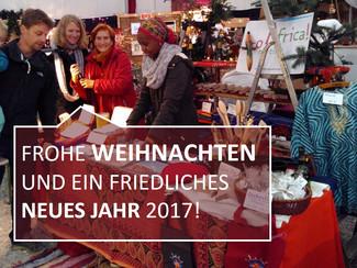 FROHE WEIHNACHTEN UND EIN FRIEDLICHES NEUES JAHR 2017!