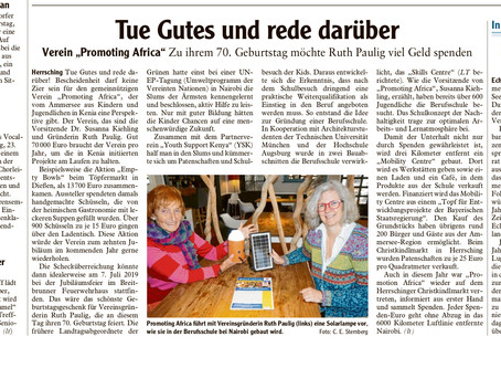 Artikel zu Promoting Africa - Landsberger Tagblatt