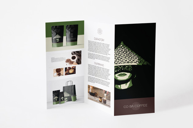 Co Ba Coffee Tri-Fold Cataloge
