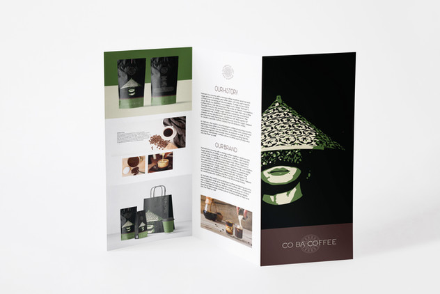 Co Ba Coffee Tri-Fold Cataloge