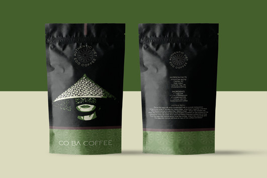 Co Ba Coffee Pouch Back and Front