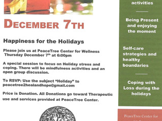 Holiday Stress in full swing? We've got a class for that!