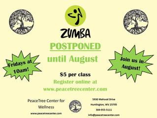 Zumba postponed til August!