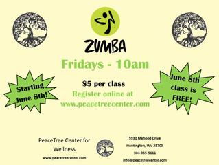 Zumba! Coming Soon to Peacetree!