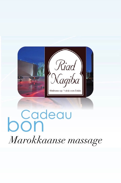 Cadeau Bon Marokkaanse Massage