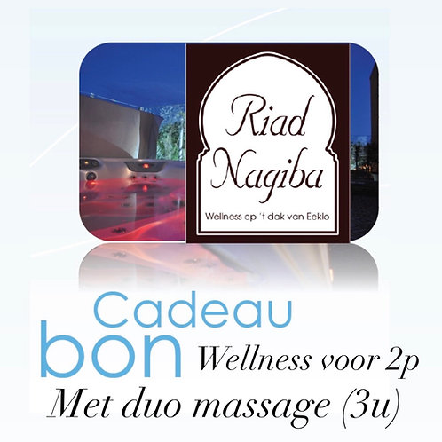 Cadeaubon Wellness voor 2p met duo massage